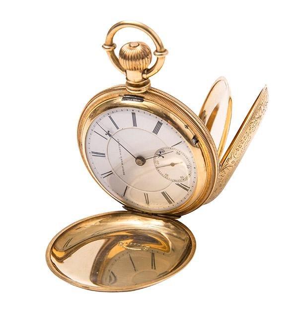 Elgin 18k Gold Pocket Watch, Movement w/ Abbots