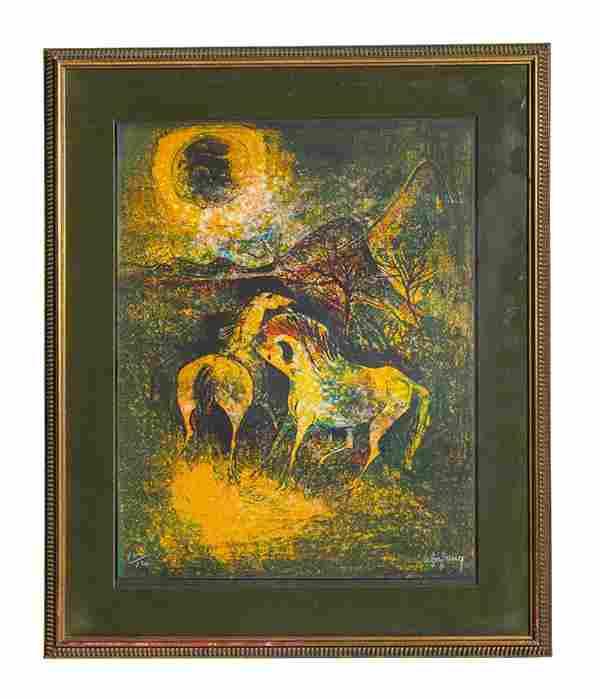 Hoi Lebadang (1922-2015) Lithograph (Franc/Vietnam)