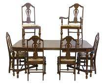 1930s Dining Room Table and Chairs