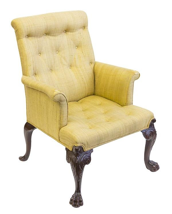19th Century Chippendale Lounge Chair