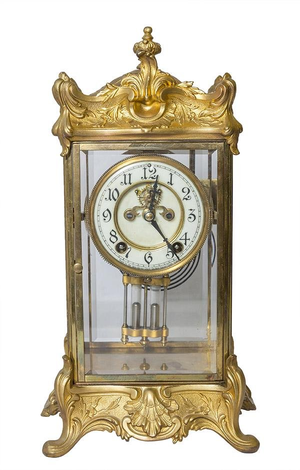 "Antique New Haven Crystal Regulator Clock ""Thoreau"""