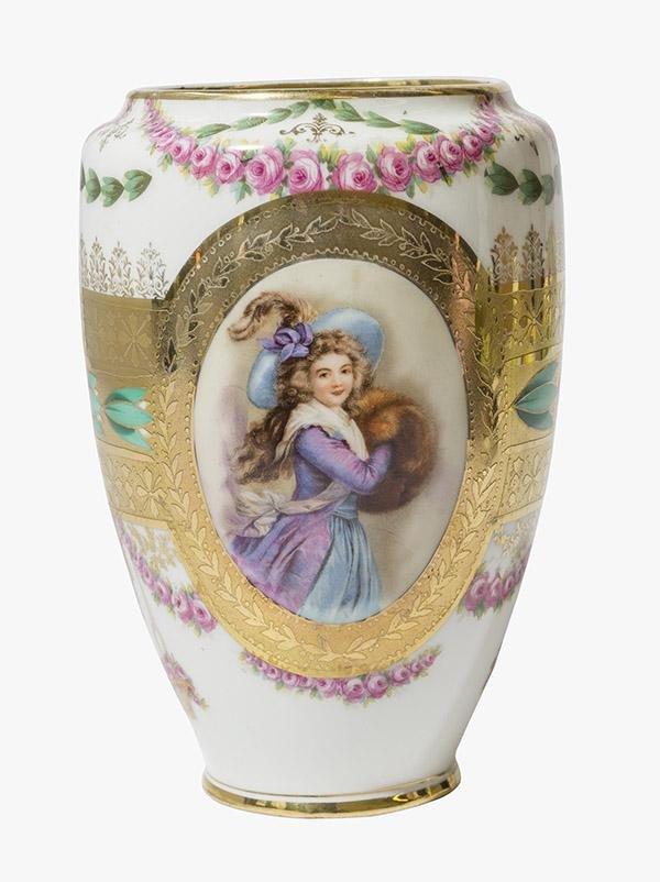Royal Bayreuth Portrait Vase Marked