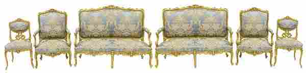 Important French 18th Century Parlor Set Attributed to