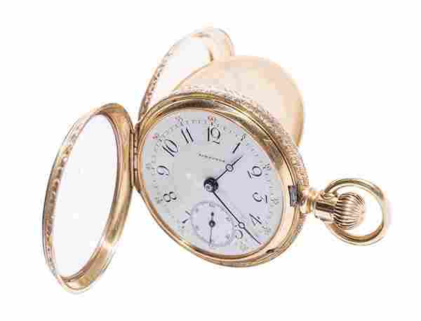 14k Gold Victorian Longines Pocket Watch