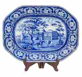 Blue Transfer Platter By Ridgewat