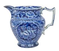 19th Century Historical Blue Staffordshire Pitcher