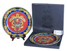 Pair of Versace Le Roi Soleil Chargers