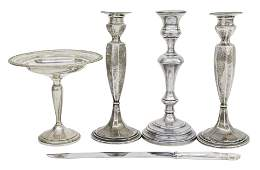 Pair of Gorham Sterling Silver Candlestick Plus