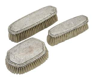 Sterling Silver Brush Set