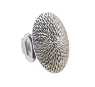 Sterling Silver Modernist Oval Ring