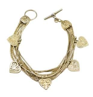 Gold Plated Sterling Silver Charm Bracelet