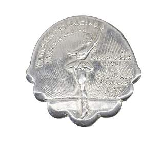 Sterling Silver 1957 World Figure Skating Championship