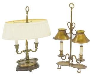 Two Metal Desk Lamps