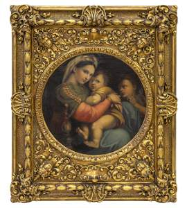 Early 19th Century Mother & Child Oil