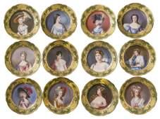 Rare Complete Set of Dresden Portrait Plates