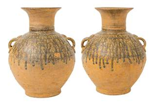 Pair of Chinese Han Dynasty Style Vases