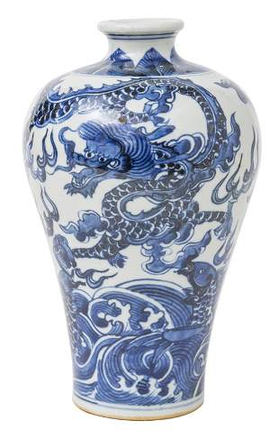 Chinese Canton Vase with Dragon