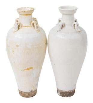 Pair of Chinese Glazed Stoneware Vases