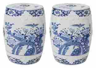 Pair of Chinese Canton Garden Seats