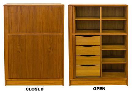 Poul Hundevad Tambour Door Cabinet