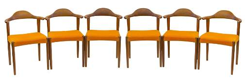 Harry Ostergaard Cow Horn Dining Chairs