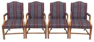 Mahogany Presidential Straight Back Arm Chairs