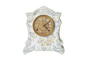 Ansonia Kennebec Porcelain Mantel Clock