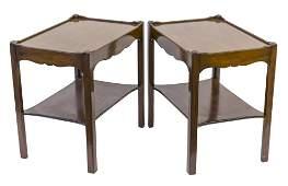 Kittinger Buffalo Mahogany Occasional Tables