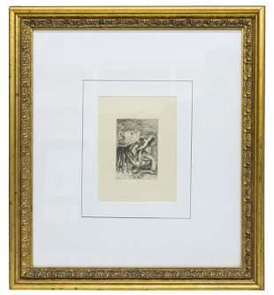 Pierre Auguste Renoir (1841-1919) Etching (France)