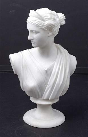 19th Century Marble Bust of Andromeda