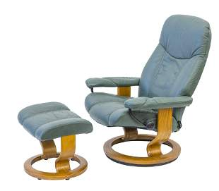 J. E. Ekornes Lounge Chair & Ottoman