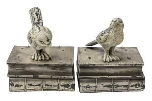 Pair of Metal Bird Bookends