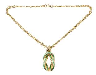 Gucci Gold Plated Sterling Necklace & Pendant