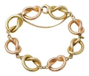 14k Gold Pretzel Link Bracelet