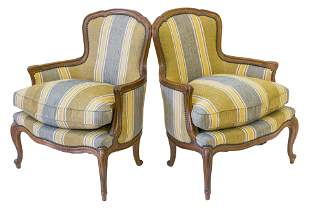 Country French Baker Furniture Lounge Chairs