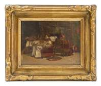 Jehan Georges Vibert (1840-1902) Attribution Oil