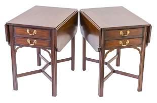 Henkel Harris Mahogany Occasional Tables