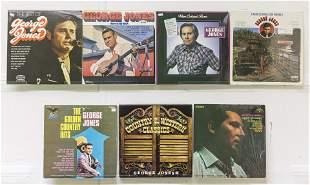 6 George Jones Vinly Record & 3 Record Box Set