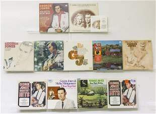 12 George Jones Vinyl Records