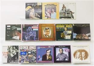 13 George Jones Vinyl Records