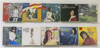 9 Loretta Lynn Vinyl Records & 3 Recod Box Set