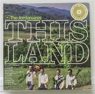 Signed The Jordanaires Vinyl Record