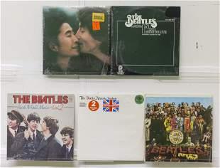 4 Beatles & 1 John Lennon with Yoko Ono Vinyl Records