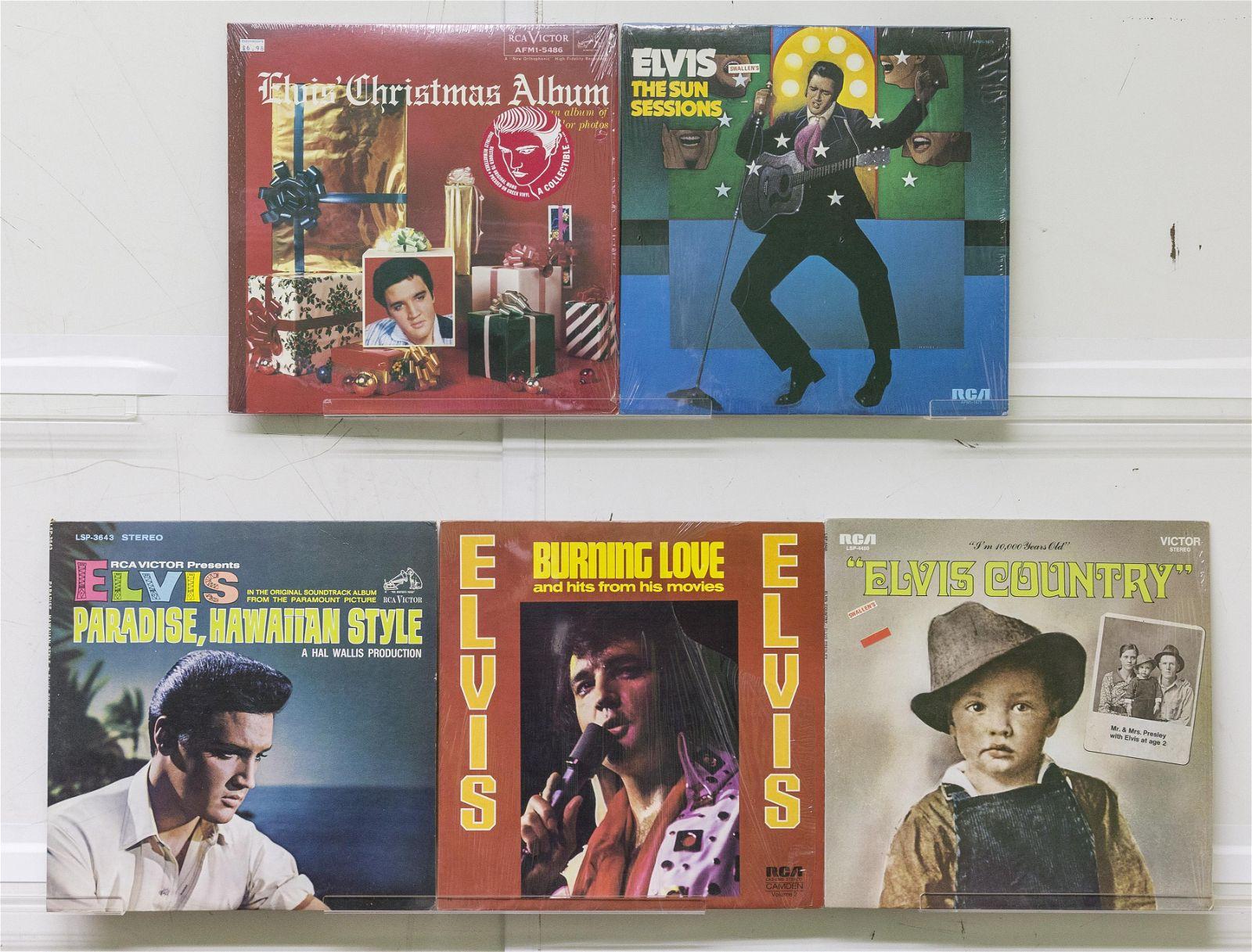 5 Elvis Presley Vinyl Records