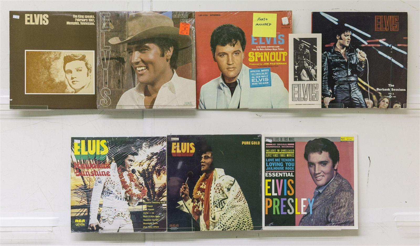 7 Elvis Presley Vinyl Records