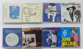 8 Hank Williams Vinyl Records