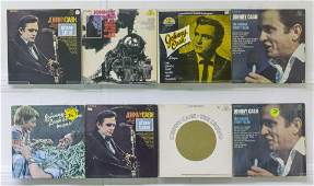 8 Johnny Cash Vinyl Records