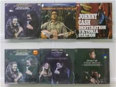 6 Johnny Cash Vinyl Records