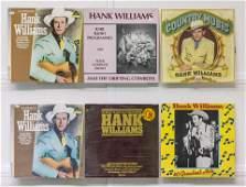 6 Hank Williams Sr. Vinyl Records