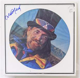 A Signed Willie Nelson Picture Disc